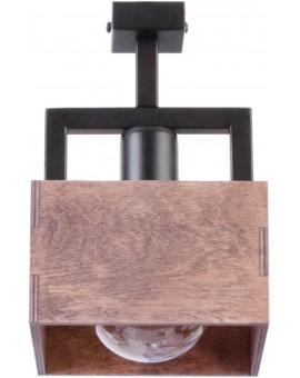 WIRE CEILING LAMP  DAKOTA 1 WOOD AND METAL 31744 SIGMA
