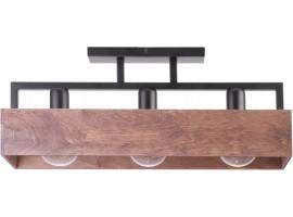 WIRE CEILING LAMP DAKOTA 3 WOOD AND METAL 31740 SIGMA