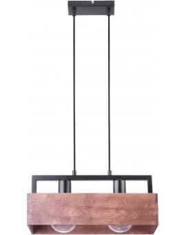 PENDANT LIGHT HANGING LAMP DAKOTA 2 WOOD AND METAL 31748 SIGMA
