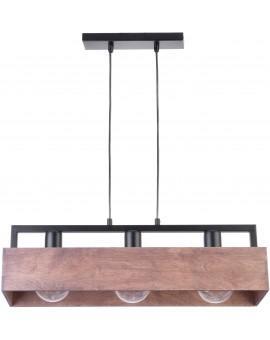 Lampe Deckenlampe Hängelampe DAKOTA Modern Design Holz Metall 31746