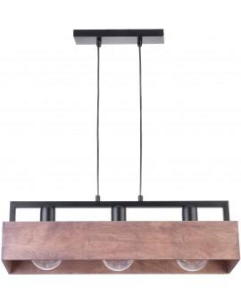 PENDANT LIGHT HANGING LAMP DAKOTA 3 WOOD AND METAL 31746 SIGMA