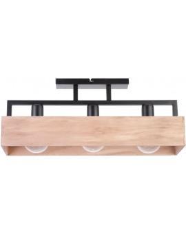 Lampe Deckenleuchte Deckenlampe DAKOTA Beige Holz Metall 31741