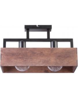 WIRE CEILING LAMP DAKOTA 2 WOOD AND METAL 31742 SIGMA