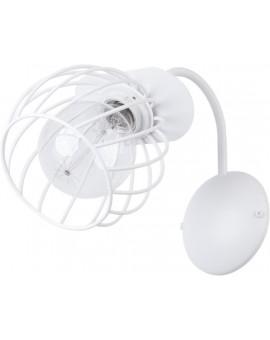 Lampe Wandlampe Wandleuchte Draht Lampe Käfig REGGE Weiß Design Modern 31895