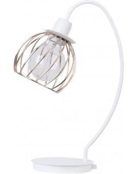 Tischlampe Nachtlampe Draht Lampe Käfig REGGE Weiß Golden Design Modern 50181