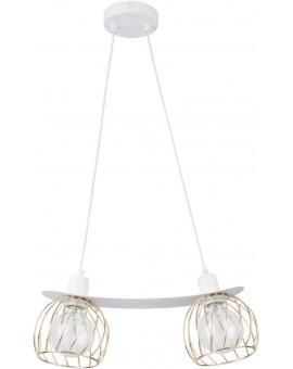 LOFT STYLE WIRE HANGING LAMP CEILING LAMP REGGE WHITE/GOLD 31855 SIGMA