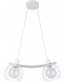 Lampe Hängelampe Draht Lampe Käfig REGGE Weiß Design Modern 31853