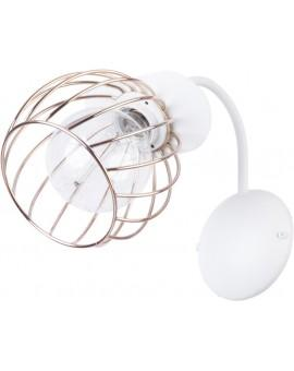 LOFT STYLE WIRE WALL LAMP REGGE WHITE/GOLD 31897 SIGMA