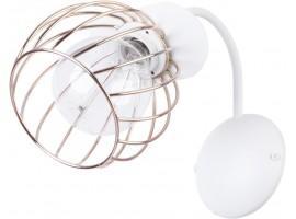 Wandlampe Wandleuchte Draht Lampe Käfig REGGE Weiß Golden Design Modern 31897