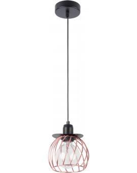 Lampe Hängelampe Draht Lampe Käfig REGGE Schwarz Kupfer Design Modern 31862