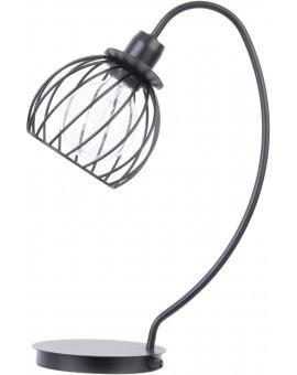 Tischlampe Nachtlampe Draht Lampe Käfig REGGE Schwarz Design Modern 50180