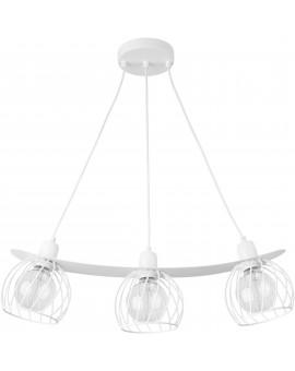 Lampe Hängelampe Draht Lampe Käfig REGGE Weiß Design Modern 31848