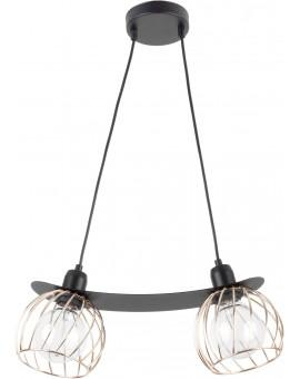 LOFT STYLE WIRE HANGING LAMP CEILING LAMP REGGE BLACK/GOLD 31856 SIGMA
