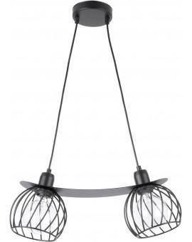 Lampe Hängelampe Draht Lampe Käfig REGGE Schwarz Design Modern 31854