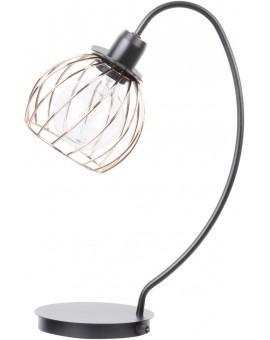Tischlampe Nachtlampe Draht Lampe Käfig REGGE Schwarz Golden Design Modern 50182