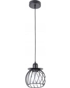 Lampe Hängelampe Draht Lampe Käfig REGGE Schwarz Design Modern 31859