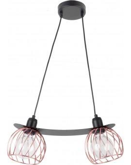 LOFT STYLE WIRE HANGING LAMP CEILING LAMP REGGE BLACK/COPPER 31857 SIGMA