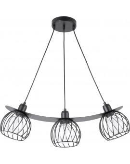 LOFT STYLE WIRE HANGING LAMP CEILING LAMP REGGE BLACK 31849 SIGMA