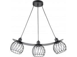 Lampe Hängelampe Draht Lampe Käfig REGGE Schwarz Design Modern 31849
