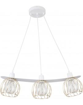 LOFT STYLE WIRE HANGING LAMP CEILING LAMP REGGE WHITE/GOLD 31850 SIGMA