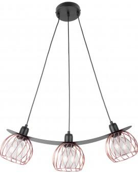 LOFT STYLE WIRE HANGING LAMP CEILING LAMP REGGE BLACK/COPPER 31852 SIGMA