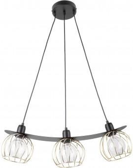 Lampe Hängelampe Draht Lampe Käfig REGGE Schwarz Golden Design Modern 31851