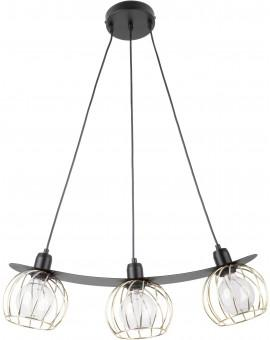 LOFT STYLE WIRE HANGING LAMP CEILING LAMP REGGE BLACK/GOLD 31851 SIGMA