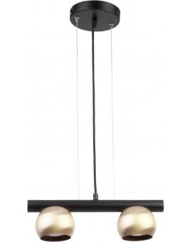HANGING LIGHT PENDANT LAMP HIPPO BLACK/ZŁOTY 33127 SIGMA