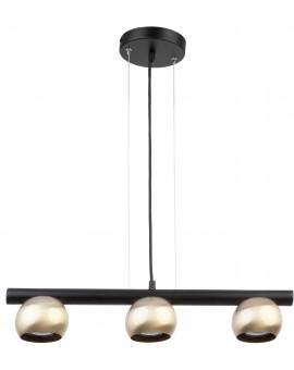 HANGING LIGHT PENDANT LAMP HIPPO BLACK/ZŁOTY 33121 SIGMA