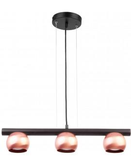 HANGING LIGHT PENDANT LAMP HIPPO BLACK/COPPER 33120 SIGMA