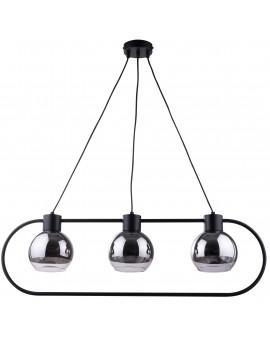 Lampe Hängelampe LINDA Schwarz Design Modern/Chrom Glaskugel 31891 SIGMA