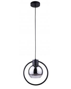 Lampe Hängelampe LINDA Schwarz Design Modern/Chrom Glaskugel 31893 SIGMA