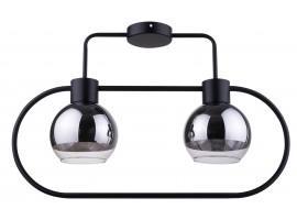 Lampe Deckenlampe LINDA Schwarz Design Modern/Chrom Glaskugel 31889 SIGMA