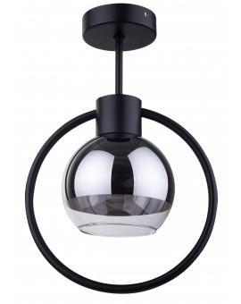 Lampe Deckenlampe LINDA Schwarz Design Modern/Chrom Glaskugel 31890 SIGMA