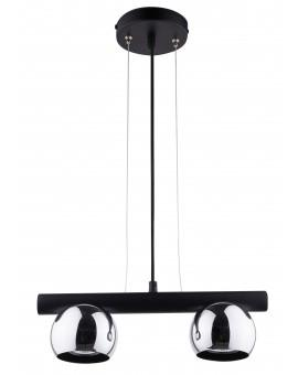 HANGING LIGHT PENDANT LAMP HIPPO BLACK/CHROME 33124 SIGMA