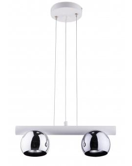 HANGING LIGHT PENDANT LAMP HIPPO WHITE/CHROME 33125 SIGMA
