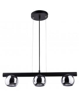 HANGING LIGHT PENDANT LAMP HIPPO BLACK/CHROME 33118 SIGMA