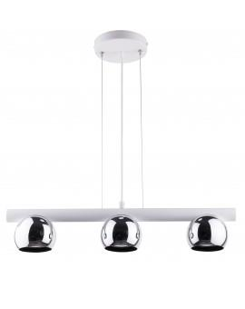 HANGING LIGHT PENDANT LAMP HIPPO WHITE/CHROME 33119 SIGMA