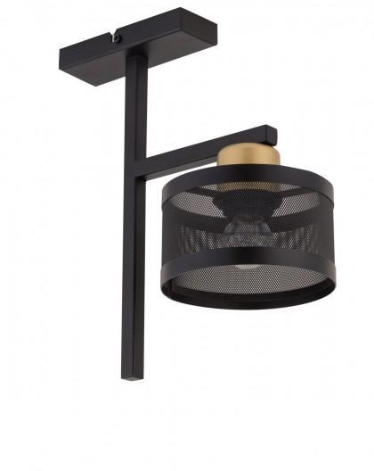 LAMPA OFF 1 PLAFON CZARNY ZŁOTY 32141 SIGMA