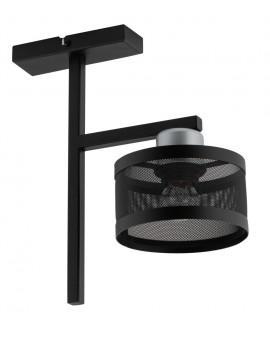 LAMPA OFF 1 PLAFON CZARNY SREBRNY 32142 SIGMA