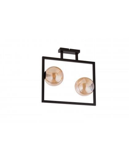 LAMPA PLAFON COSMIC CZARNY/BURSZTYNOWY 32128 SIGMA