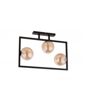 LAMPA PLAFON COSMIC CZARNY/BURSZTYNOWY 32124 SIGMA